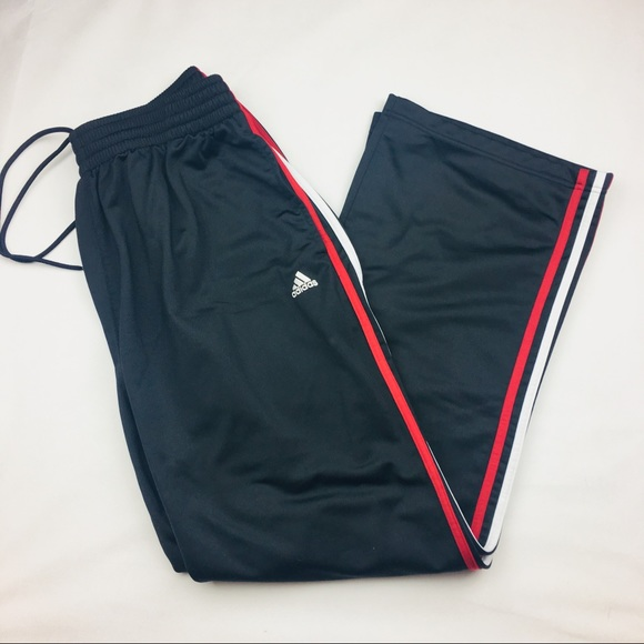 Inactivo obvio Asimilar  adidas Pants   Black Athletic Red White Stripes   Poshmark